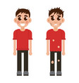rich and poor children vector image vector image
