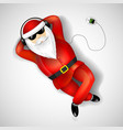 santa claus lying on the floor vector image