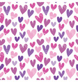 seamless pattern with a lot of hearts vector image vector image