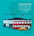 set city public transport vector image vector image