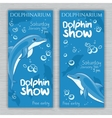 set of printable dolphinarium banner with vector image vector image