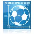soccer blueprint vector image vector image