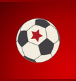 soccer football with red star on red vector image vector image