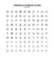 spaces and science outline icon set vector image