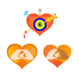 three hearts as elements for design vector image vector image