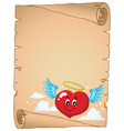 valentine heart topic parchment 4 vector image vector image