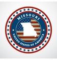 Vintage label Missouri vector image