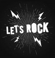 vintage stamp lets rock music print graphic design vector image vector image