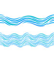water waves seamless pattern or tattoo ornament vector image