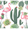 watercolor seamless pattern of pink vector image