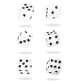 White dices vector image vector image