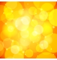 Yellow bokeh effect abstract background vector image vector image