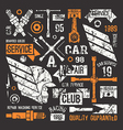 Car service badges in retro style vector image