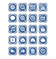 web icon mega set blue metallic icons with white vector image