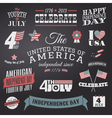 Independence Day Design Elements Set vector image
