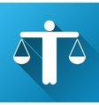 Lawyer Gradient Square Icon vector image