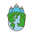globe world ecology energy environment power vector image