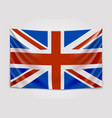 hanging flag of great britain united kingdom of vector image