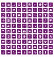 100 t-shirt icons set grunge purple vector image vector image