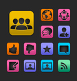 Social network icon set gummy theme vector | Price: 1 Credit (USD $1)