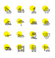 16 cargo icons vector image vector image