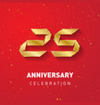 25 years anniversary template for inviting of vector image