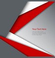 Abstract red white grey triangles background vector image vector image