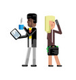 african man with tablet computer vector image vector image