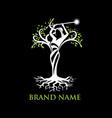 angel tree logo vector image