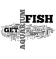 aquarium fish magazine text word cloud concept vector image vector image