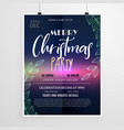 beautiful christmas party flyer design template vector image vector image