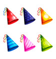 birthday party hat collection vector image
