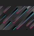 black abstract geometric tech backgroundn with vector image vector image