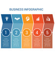 business infographic design for timeline five vector image vector image