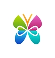 butterfly logo beauty concept symbol icon design vector image