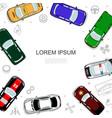 car top view concept vector image