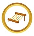Children rope ladder icon vector image
