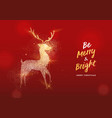christmas gold glitter texture reindeer card vector image vector image