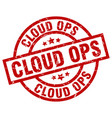 cloud ops round red grunge stamp vector image vector image