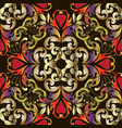 colorful baroque seamless pattern damask vector image