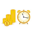 concept time is money business and finance vector image