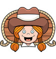 cowgirl smiling vector image