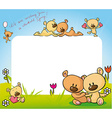 cute teddy bear in love design - vector image vector image