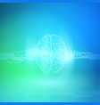 digital brain on blue background artificial vector image vector image