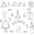 Doodle of hand draw christmas object vector image