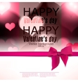 Elegant greeting card with hearts and copy space vector image vector image