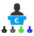 euro politician flat icon vector image