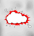 Explosion pop-art bubble template comic style vector image vector image