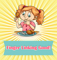 Finger linking good vector image vector image