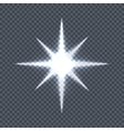 Glowing Star on Transparent Background vector image vector image